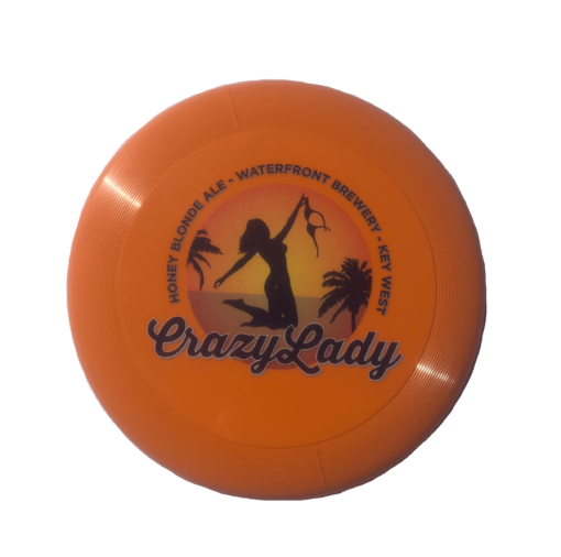 orange Crazy Lady frisbee