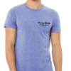 front of crazy lady beer t shirt in blue