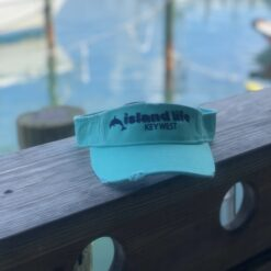 island life visor in seafoam with navy
