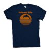 Island Life T shirt orange and navy